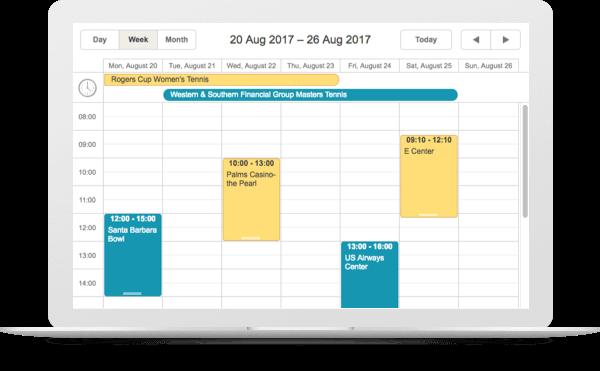 Mobile HTML5 JavaScript Scheduler UI widget | JavaScript Event